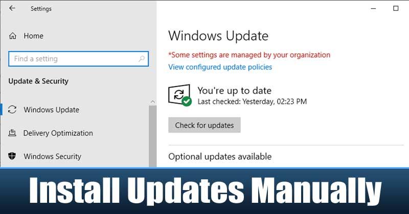 Cómo descargar e instalar actualizaciones de Windows 10 manualmente