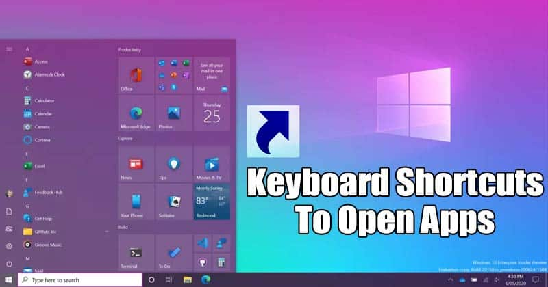 Create Keyboard Shortcuts To Open Softwares in Windows