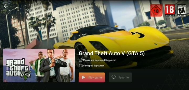 Play GTA 5 on android and iPhone