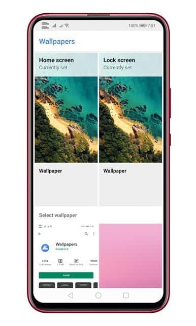 Open the wallpaper app