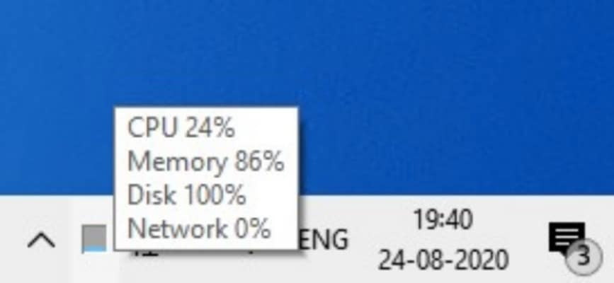 How To Show CPU Meter in Windows Taskbar
