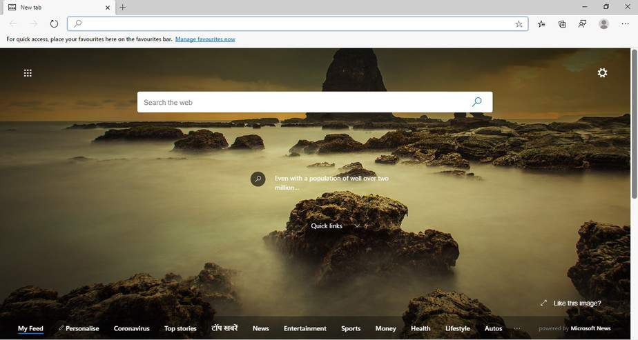 launch the Edge Canary browser