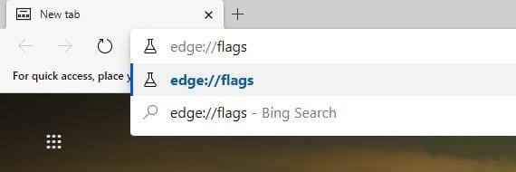 Open 'edge://flags'
