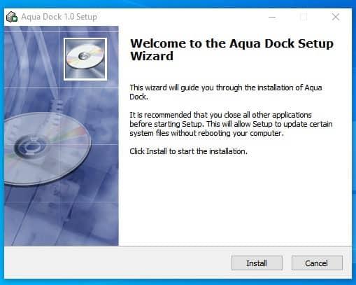 download & install Aqua dock