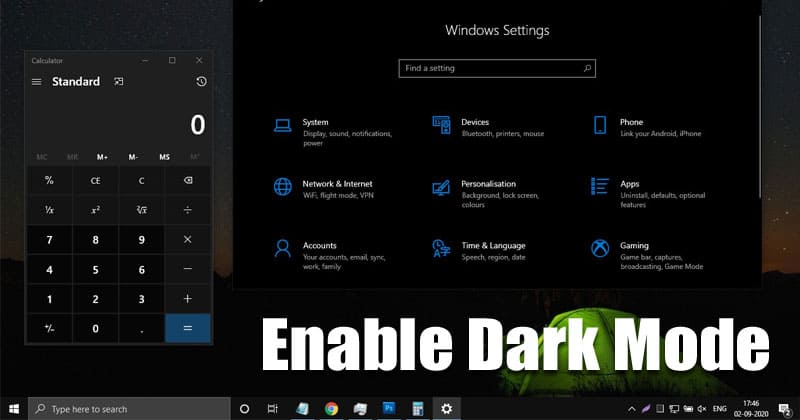 How To Enable Dark Mode in Windows 10 Computer