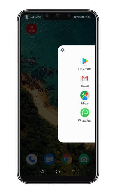 Swipe from the right edge of the screen to open the sidebar