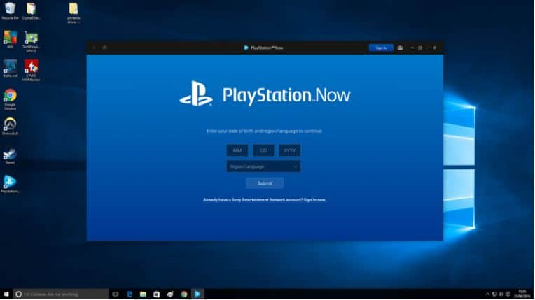 Install PlayStation Now