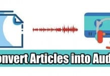 convert articles into audio