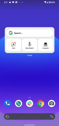 iOS 14 Type Google WIdget on Android