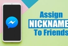 Assign Nicknames to Friends in Facebook
