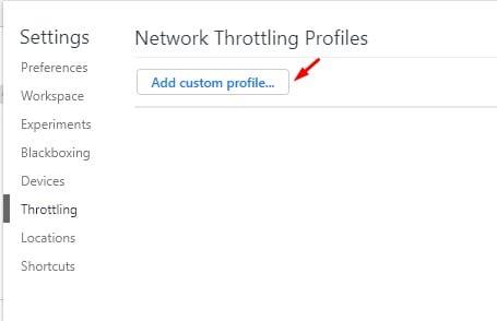 click on the 'Add custom profile' option