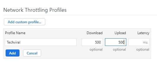 download & upload speed limit in kb/s