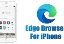 Microsoft Edge Browser for iPhone
