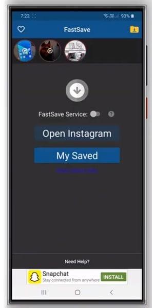 open the app