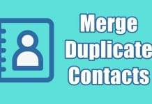 Merge or Remove Duplicate Contacts