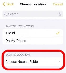 select the 'Save To Location' option
