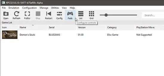 RPCS3 emulator on PC