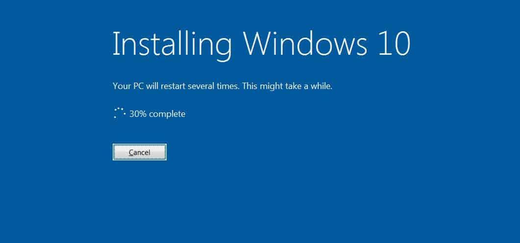 Wait until the update gets installed