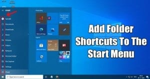 How to Add Folder Shortcuts to the Start Menu's Left Sidebar