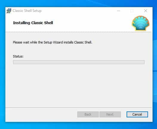 download & install Classic Shell