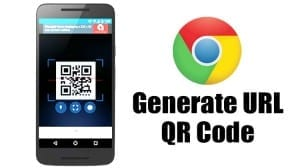 Generate QR Code for URL in Google Chrome for Android