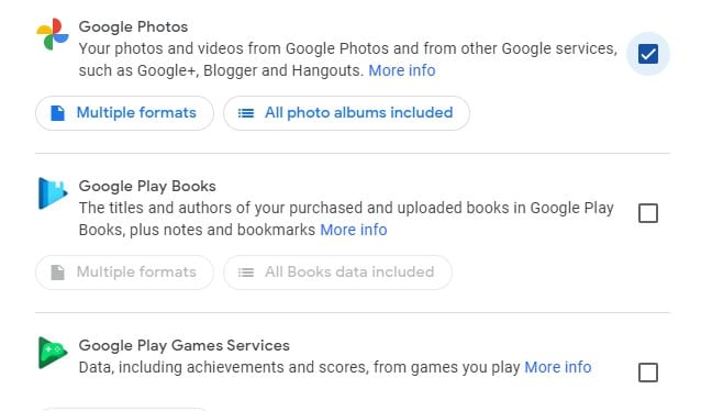 Select the 'Google Photos'