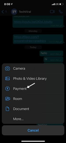 select 'Payment'