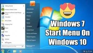 How to Get the Classic Windows 7 Start Menu in Windows 10