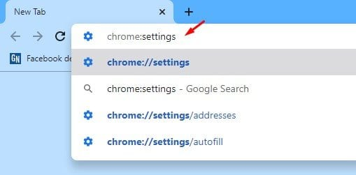 type in chrome:settings and hit Enter