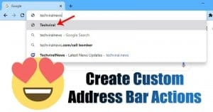 How to Create Custom Google Chrome Address Bar Actions