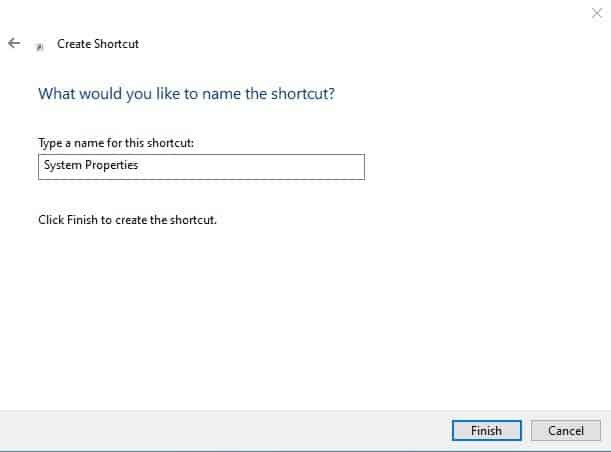 Name the new shortcut