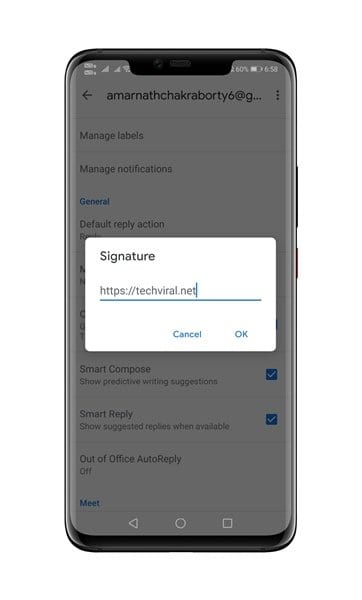 type the text for your signature