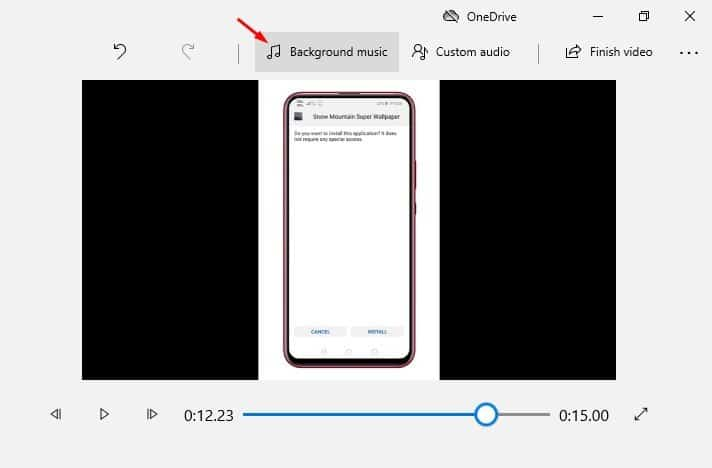 add background music to your video