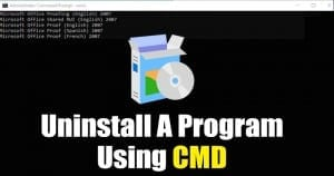Uninstall a Program using CMD in Windows 10