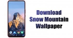 Download MIUI 12's Snow Mountain & Geometry Live Wallpaper On Android