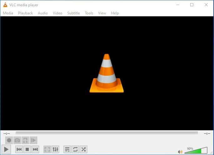 launch the VLC media player app