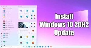 How to Download & Install Windows 10 20H2 Update