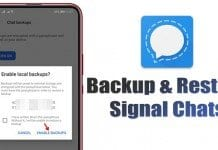 How to Backup & Restore Signal Chats On Android