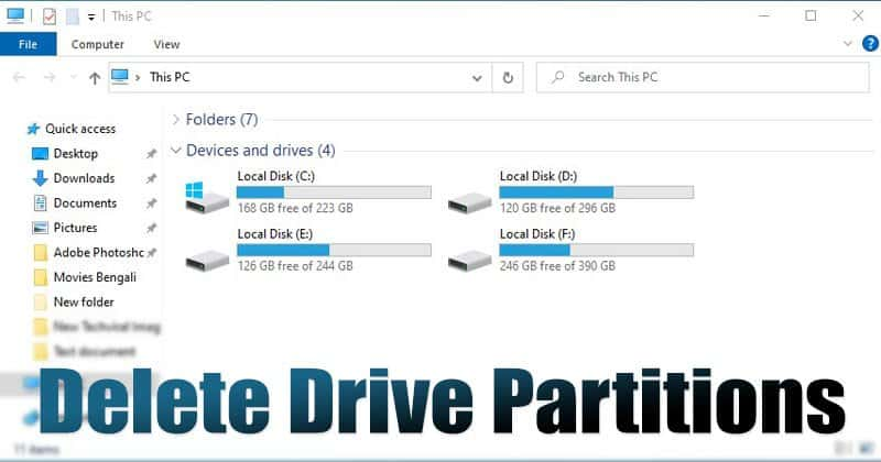 2 Best Methods to Delete a Drive Partition On Windows 10