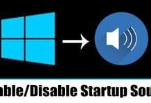 How to Enable/Disable Startup Sound in Windows 10