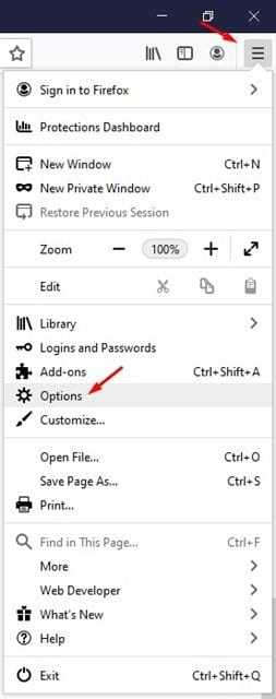 click on the three horizontal lines and select 'Option'