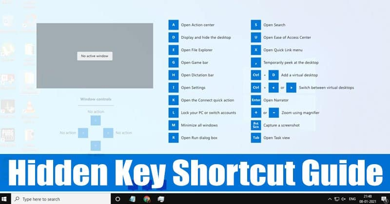 How to Use the Windows Key Shortcut Guide in Windows 10 in 2021