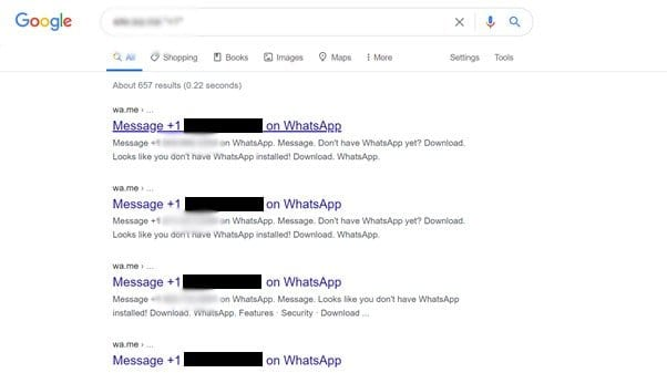 Mobile numbers of whatsapp web users leaked