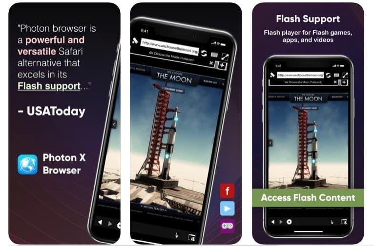 Photon X Flash Player Browser