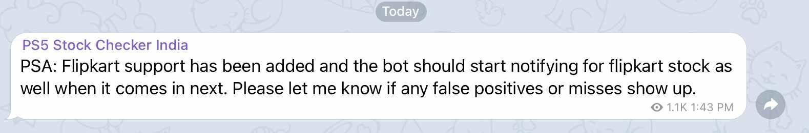 Ps5 Flipkart telegram bot