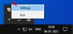 select 'Settings.'