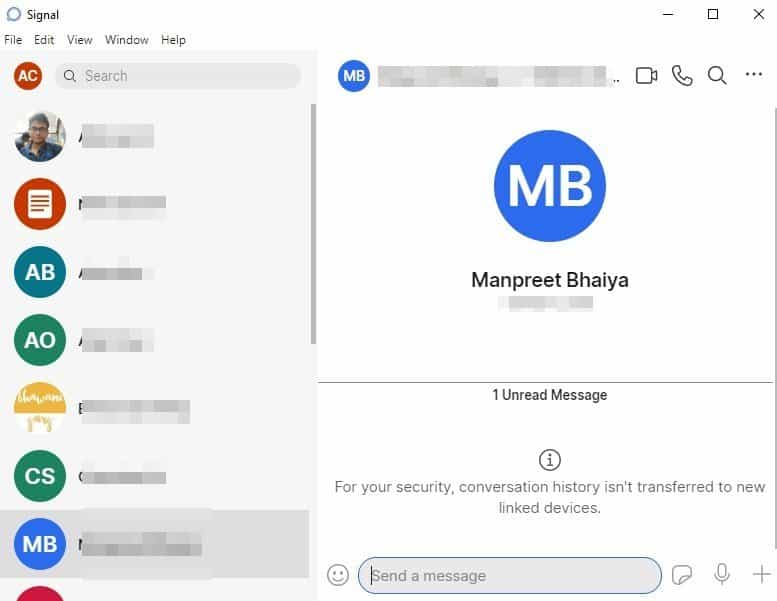 use the Signal Private Messenger on your desktop