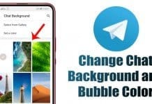 How to Change the Chat Background & Chat Bubble Color in Telegram