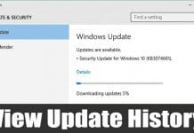 How to Get a List of all Installed Updates On Windows 10