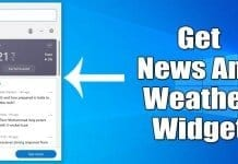 How to Enable News & Weather Widget On Microsoft Edge